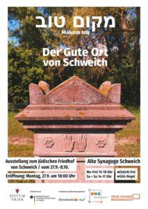 """""""Makom tov"""": Eine Ausstellung zum jüdischen Friedhof Schweich @ Synagoge Schweich"""